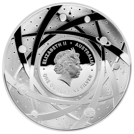 Silbermünze Earth and Beyond - Der Mond  PP - 1 oz - 2019